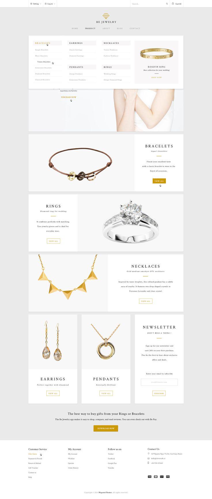 Bejewelry megamenu