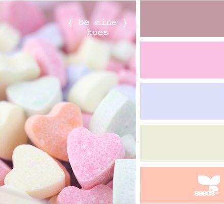 Différentes palettes de couleurs déclinaison pastel