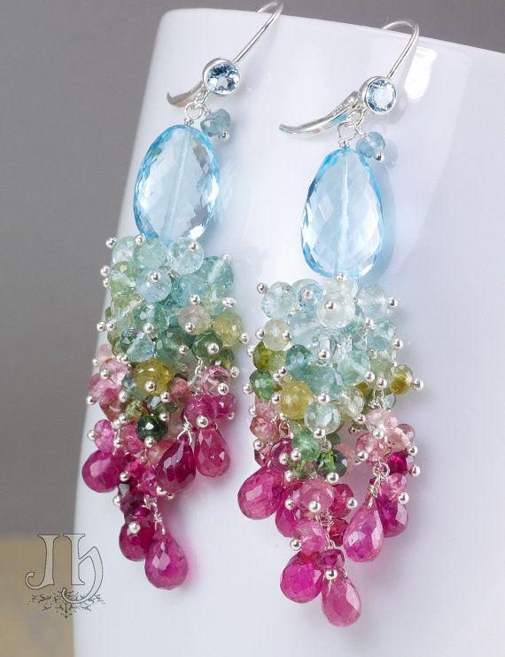 RESERVED for E. ... Paraiso earrings