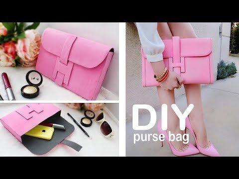 DIY PURSE BAG CLUTCH TUTORIAL NO SEW IDEA - YouTube  c0515a522b0fe