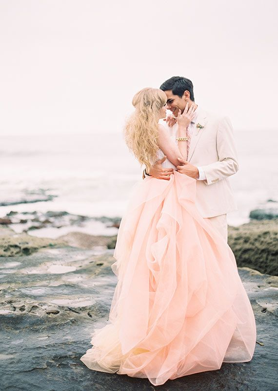 pretty pink wedding gown
