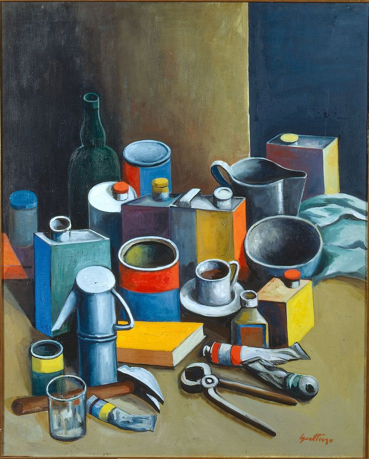 Renato Guttuso (1911-1987), Natura morta / Still life, 1966. oil on canvas, 81 x 64 cm