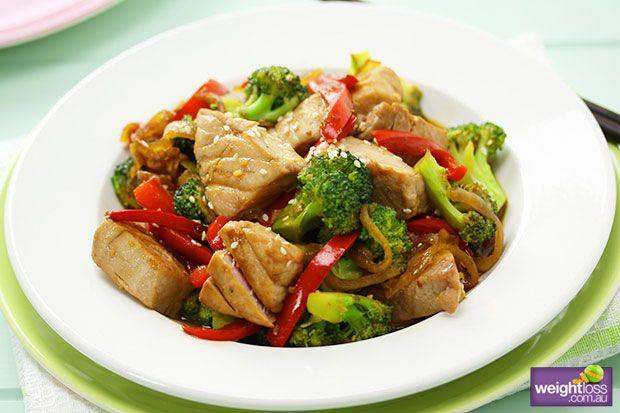 Tuna and Broccoli Stir Fry