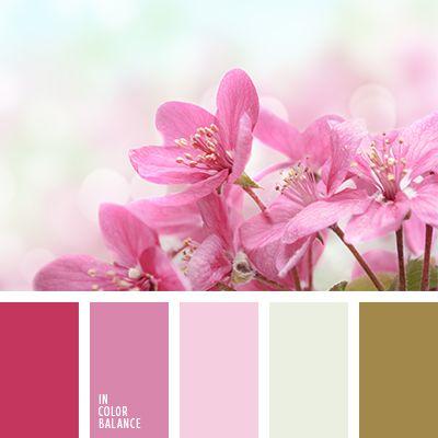 Esta combinación de tonos suaves se asocia a la niñez.  Linda y emocionante, tal gama de color es ideal para decorar una habitación infantil de niña.  Así mismo puede ser usada para hacer una manicura de primavera.