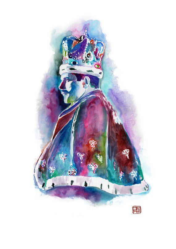 FREDDIE MERCURY QUEEN art print portrait painting by SesCaniques