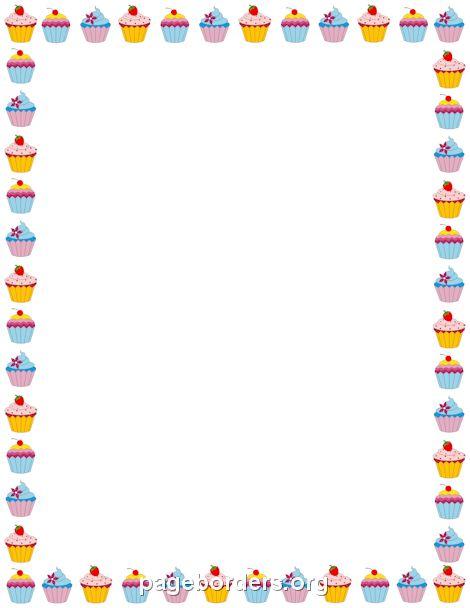 cupcake border bordes marcos