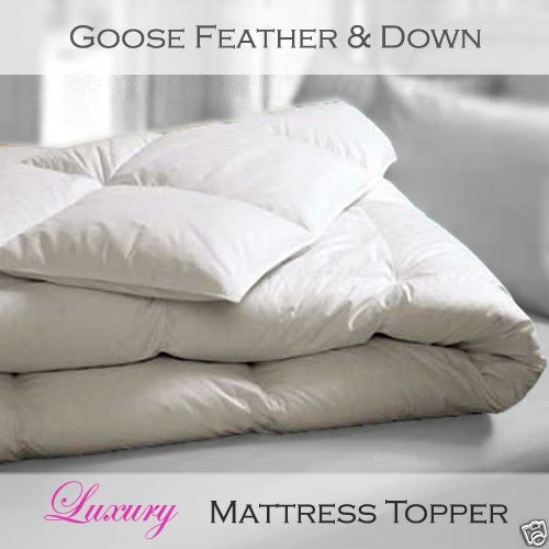 Luxury White Goose Feather and Down - Full Bed Mattress Topper - All Sizes