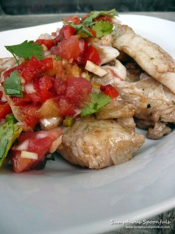 Apple grilled walleye with smoky pineapple salsa recipe for Walleye fish recipes