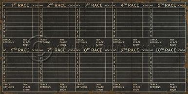 Artwork Horse Racing Form New SC-701