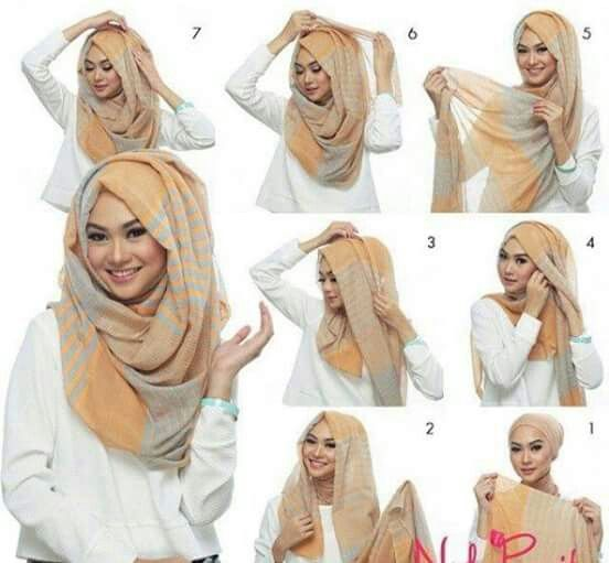 Loose hijab tutorial. Hijab Chic blog.