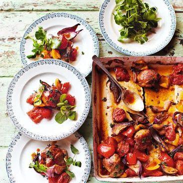 Jamie Olivers lättlagade kyckling i långpanna