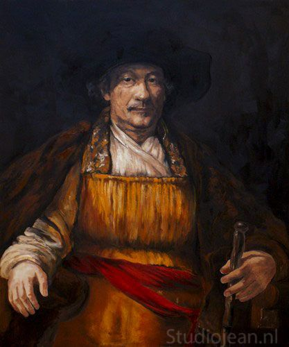 Rembrandt self portrait 1658 by Jean Elliot