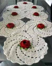 Resultado de imagen para caminos de mesa en crochet