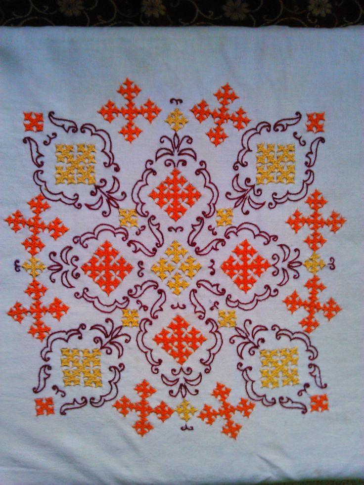 Kutch work on my cushion cover embroidery