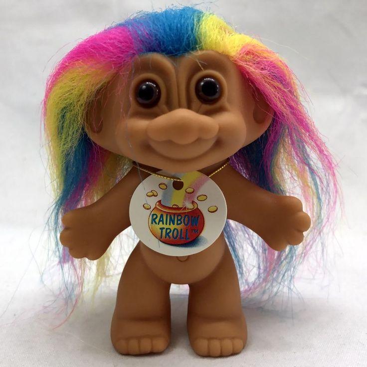 Russ Good Luck Trolls  Rainbow Hair With Tag Store Sticker Nude  #Russ #Dolls