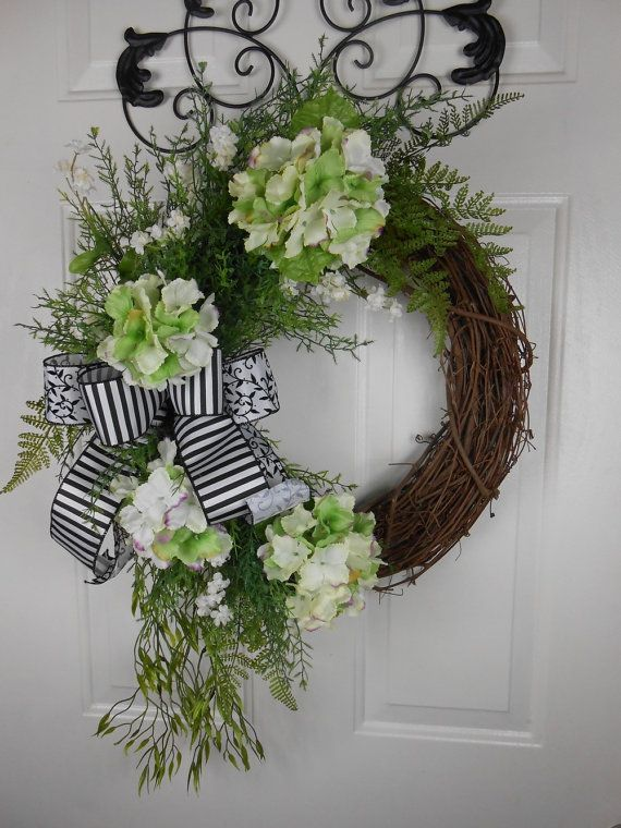 Monogram Wreath Personalized Gift For Mom Double Door Spring Summer