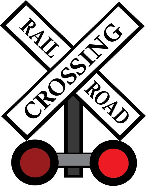 Dynamic image within railroad crossing sign printable
