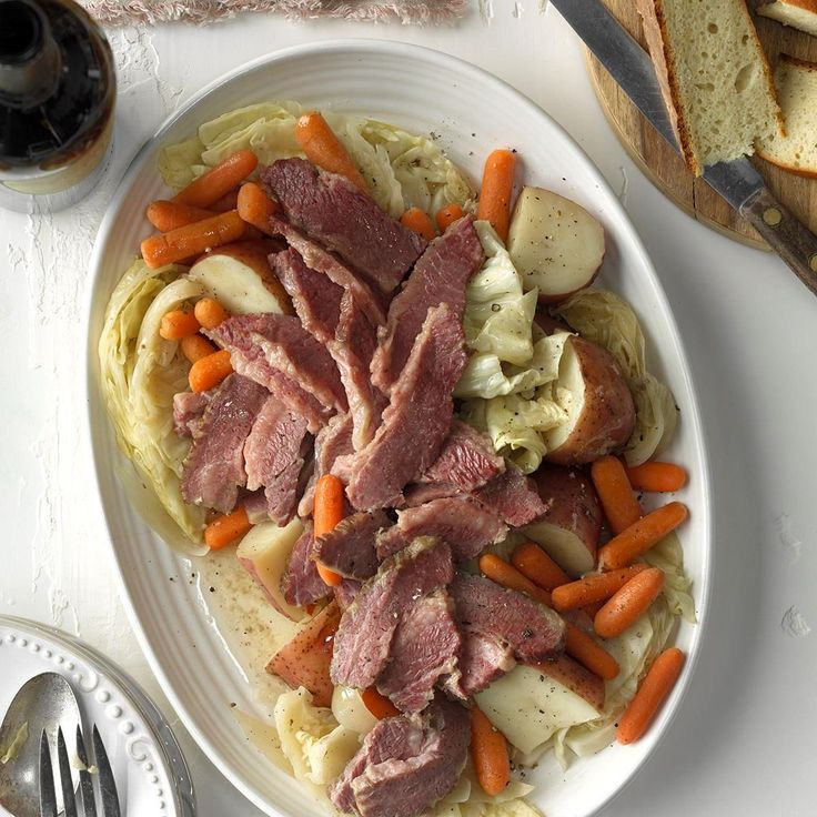 Easy Corned Beef and Cabbage Recipe -I first tried this fuss-free way to cook traditional corned beef and cabbage for St. Patrick's Day a few years ago. Now it's a regular in my menu planning. This is terrific with Dijon mustard and crusty bread. —Karen Waters, Laurel, Maryland