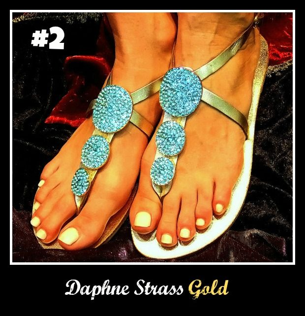 Number 2, Daphne Strass Gold. Check the link out for more! http://www.greekinnovativesandals.com/2015/01/daphne-strauss.html €119.00