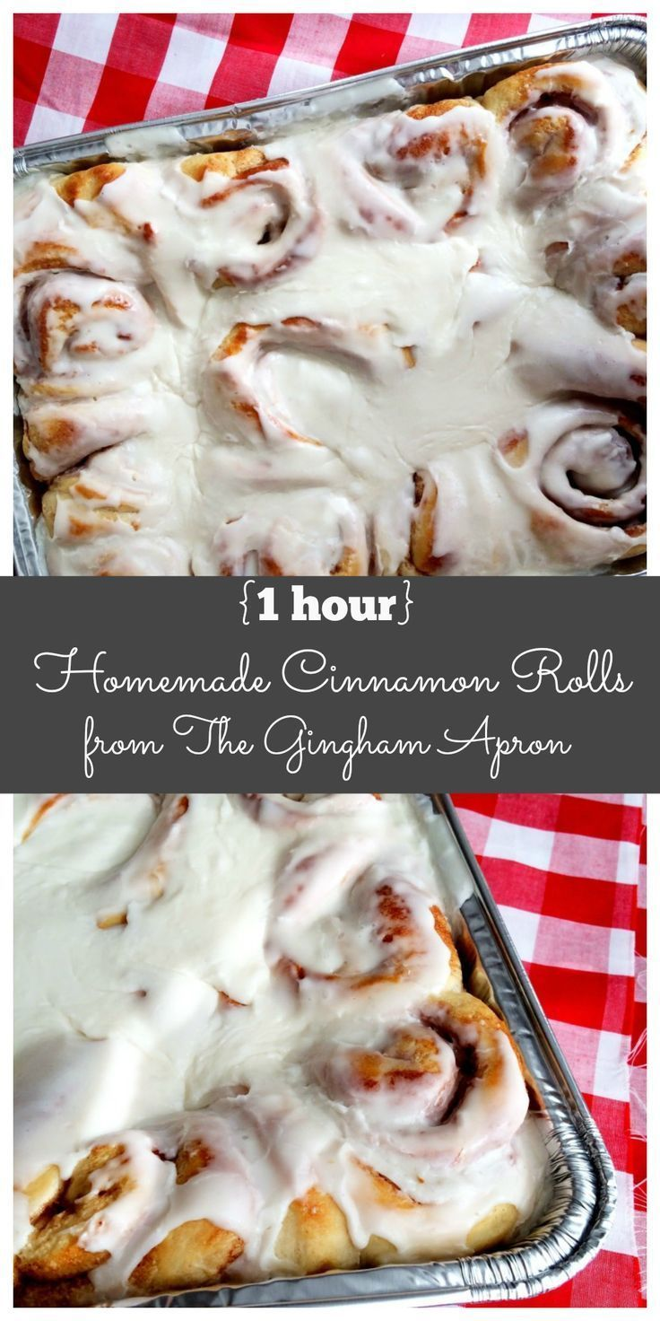 1 hour Homemade Cinnamon Rolls: So easy and so good! Best part: ready in only an hour. Breakfast tomorrow?