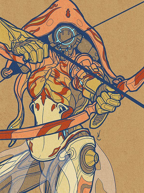 Ivara (fanart), Virginia Carrillo on ArtStation at https://www.artstation.com/artwork/bVlbE
