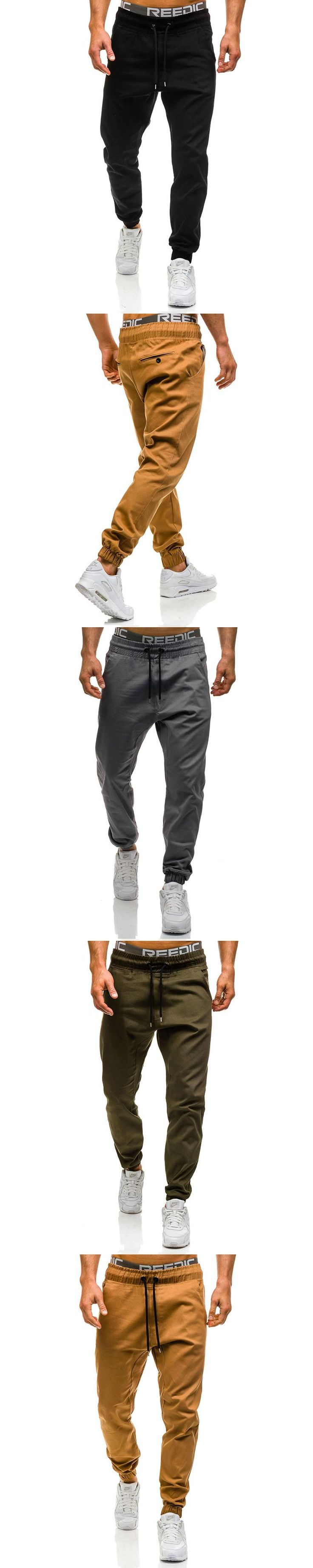Men Joggers 2017 New Casual Pants Men Brand Clothing High Quality Spring Long Khaki Pants Elastic Male Trousers Mens Joggers 3XL