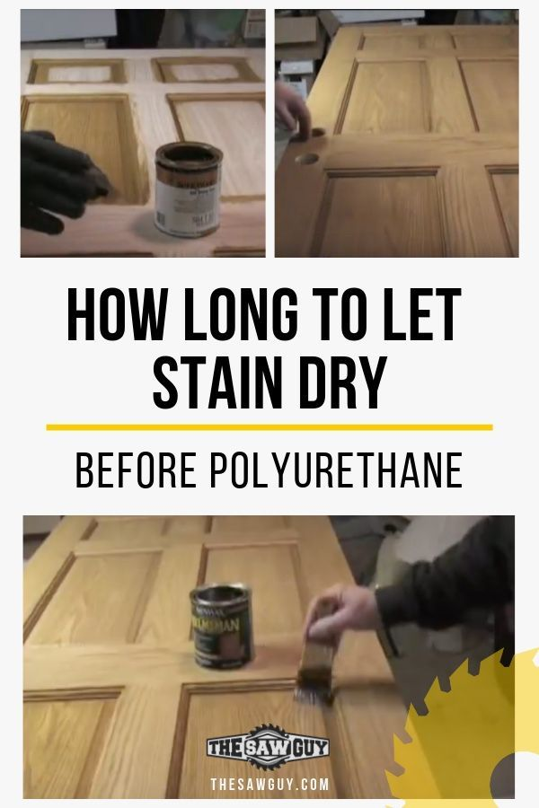 How Long To Let Stain Dry Before Polyurethane Diy Wood Stain