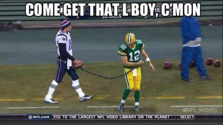 Patriots vs Packers funny meme