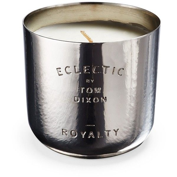 Tom Dixon Eclectic Collection Royalty Nickel Candle (1.920 CZK) found on Polyvore featuring home, home decor, candles & candleholders, candles, fragrance candles, tom dixon, 3 wick candles, three wick candles and eclectic home decor