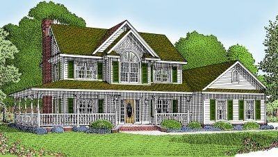 Victorian Farmhouse House Plan