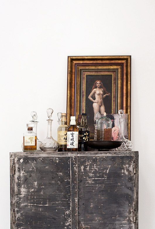 a funky but charming mix of vintage & antique . cheers!