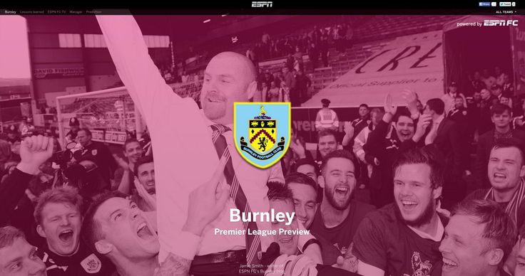 Burnley FC Premier League preview, as featured on ESPN UK.