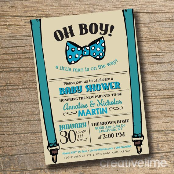 Couples Baby Shower Invitation Baby Shower Boy by creativelime