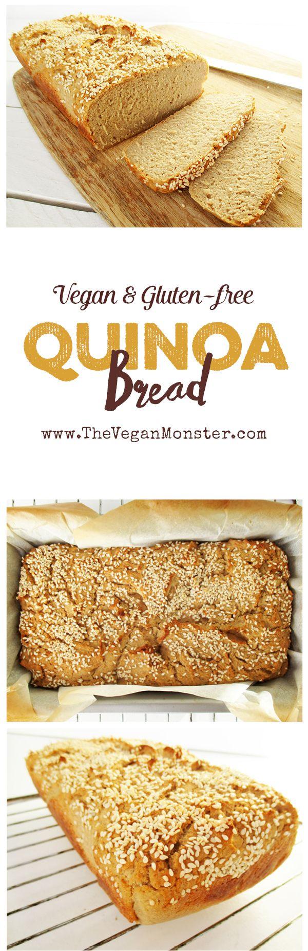 Quinoa Bread. Vegan, gluten-free, oil-free. (Fitness Food Gluten Free)