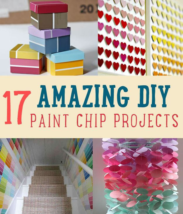 419 best paint chip crafts images on pinterest for Painting craft projects