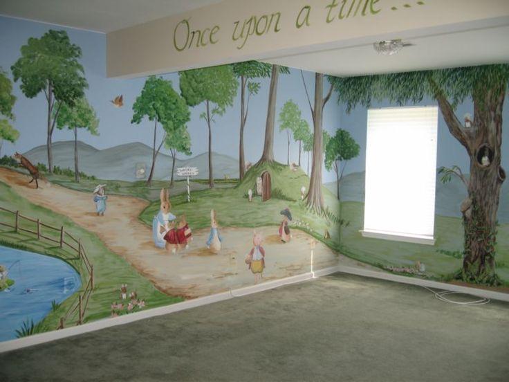 Images Of Beatrix Potter Theme Rooms | Beatrix Potter A Beatrix Potter  Basement Playroom. Kids MuralsWall ... Part 54