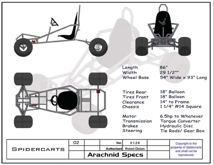 Good set of starter plans if you want to get started building a Go-Cart