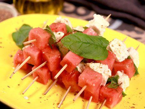Melon- och fetaostspett | Recept.nu