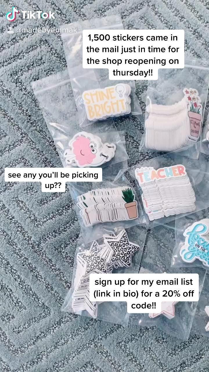 Mbek Restocks Happy Mail Day Video Small Business Packaging Packaging Ideas Business Business Stickers