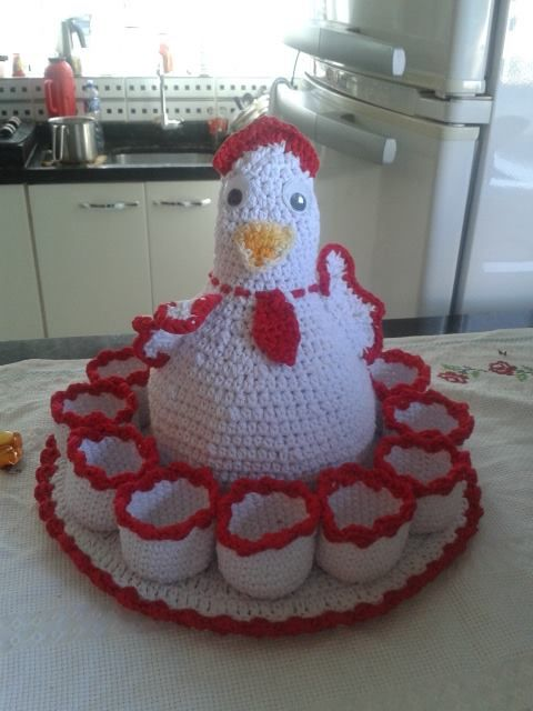 crochet chicken for eggs