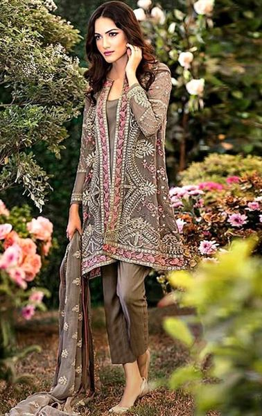 Picture of Magnificent Dark Brown Latest Online Salwar Kameez