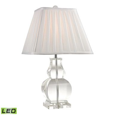 Dimond Lighting Downtown Solid Clear Crystal LED Table Lamp