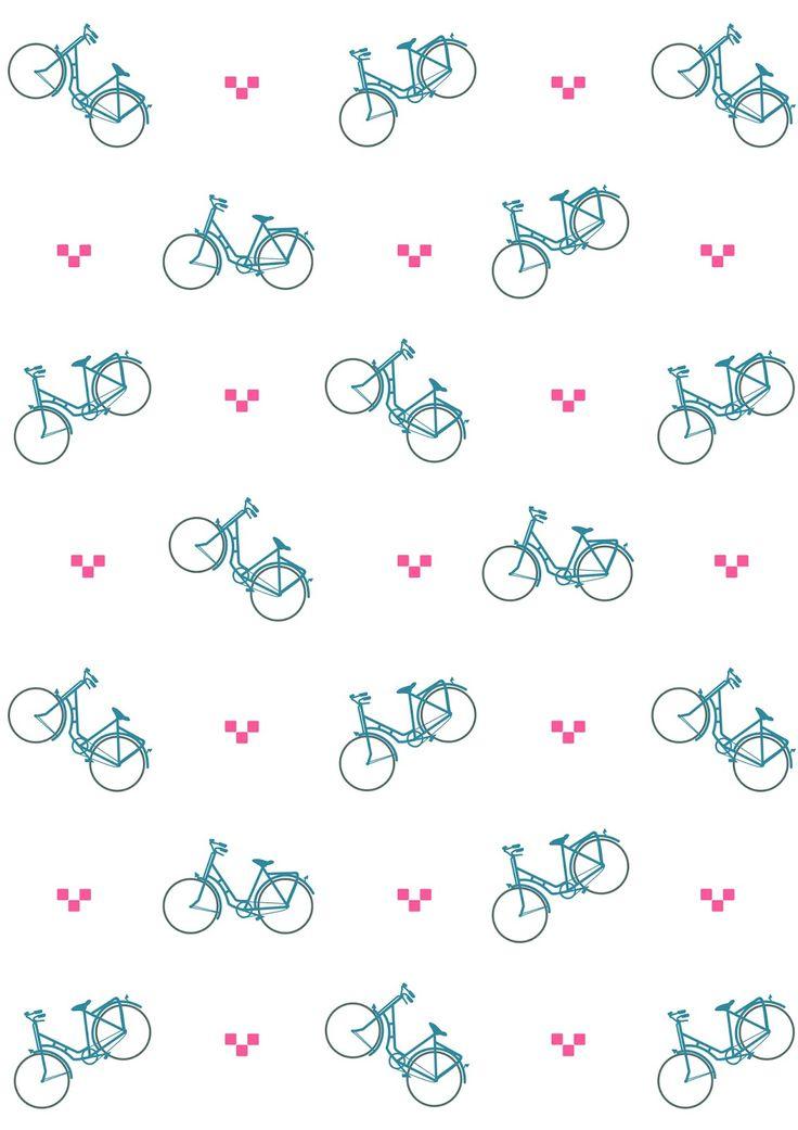 FREE printable bicycle pattern paper | #bicycle