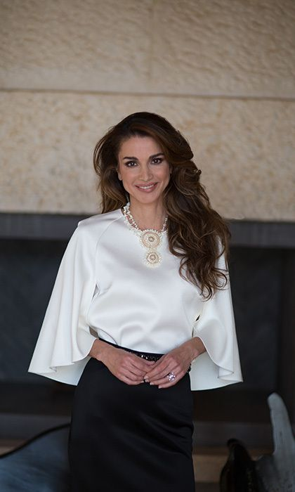 ♔♛Queen Rania of Jordan♔♛... Queen Rania of Jordan rings in 46 with gorgeous new photos