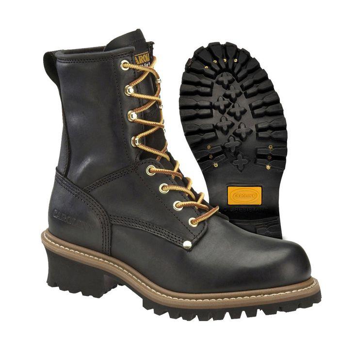 Carolina Steel Toe Logger Boot - (1825) - Black