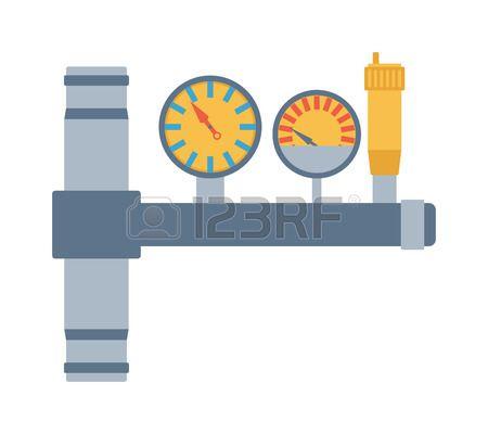 Pressure sensor differential tool vector icon or pressure sensor..