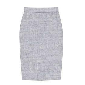 Voici un patron de couture gratuit à imprimer afin de réaliser la très classique jupe crayon. Non doublée, fermeture éclair invisible. Taille : 32-46