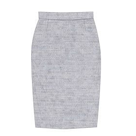 Pattern. Jupe crayon / Pencil skirt. A faire descendre jusque après le genou ou mi mollet. http://lagouagouache.com/couture-ma-petite-jupe-en-laine/