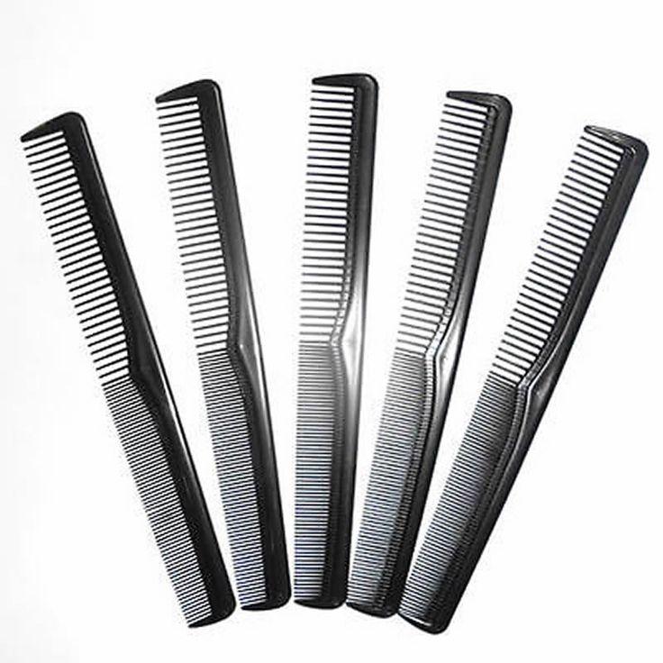 5/10Pcs Salon Hair Styling Hairdressing Antistatic Barbers Detangle Comb Black Hot