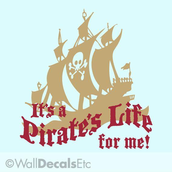 New room. Yo ho ho! Pirate Ship Wall Decal Pirate Ship Decor Kids by WallDecalsEtc, $25.00